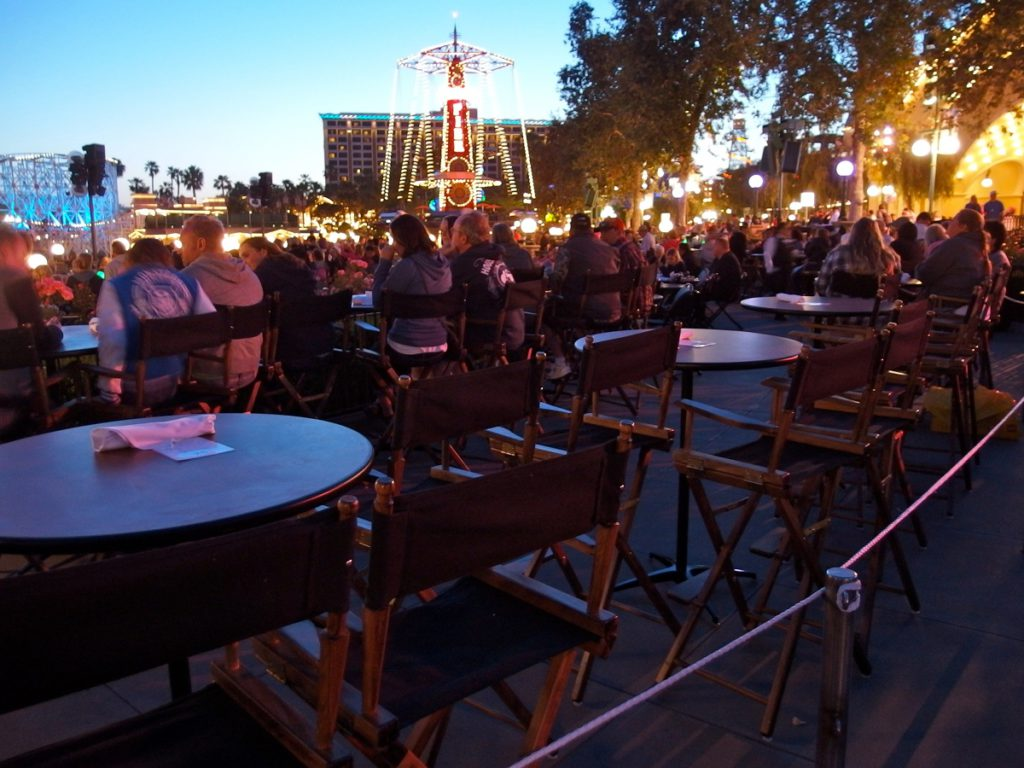 Dessert Party guests are seated in prime viewing areas facing Paradise Bay.
